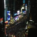 View of Times Square from my room!