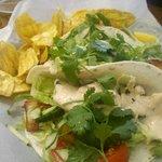 Fish tacos at Tortugas