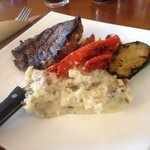 Steak and mashed potatoes. Excellent!
