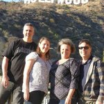 Aussies under the HollyWood Sign