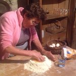 Nonna starts the pasta
