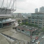 BC Stadium and Cambie Bridge from Room 910,