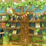 A paper tree in the children's room