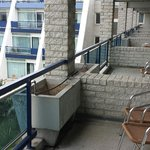 Nice spacious balconies with table and chairs