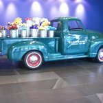 Pick up Truck with Glass Flowers
