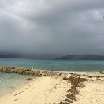 View from dive hut of jetty of rain shadow
