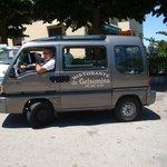 Tiny minivan that took us up to the restaurant