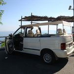 Our fabulous open air taxi