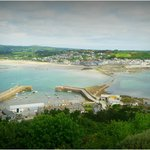 View back to Marazion from the Mount