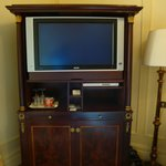 TV with stand that had extra drawers in it