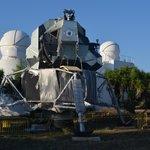 Full scale replica of the Apollo moon lander