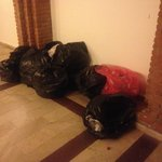 Rubbish in our block entrance left for each evening and sometimes through night