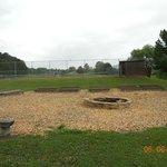Campfire site near playground