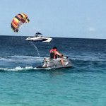 Parasailing and jet skiing