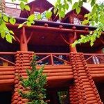 Replica of Old Faithful Inn at the Teton Trek Habitat
