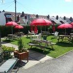 The lovely sun-trap beer garden