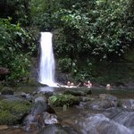 Swimming in the Waterfalls at San Jorge de Milpe Orchid & Bird Reserve