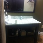 Vanity area outside of the restroom.