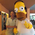 I meet Homer Simpson in the Vil.la Romana Hotel!!!