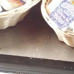 Bugs and dirt in the dessert cooler.