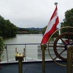 ドナウ河クルーズ船のデッキ