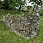One of the only remaining stones in the area used by the Picts and it's in Pauline's front garde