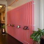 ipad wall in lobby - very nice touch