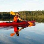 Kayaking at lake Juumajärvi