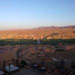 Blick von der Terrasse unseres Zimmers, morgens