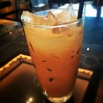 Thai Tea prepared for me in the Lounge.