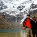 Glacier lake above Soraypampa