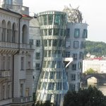 View from hotel room at dancing house