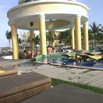 Big pool bar area