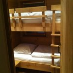 Bunk beds downstairs.