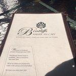 The menu of delicious food
