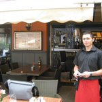 "Charming young waiter whom we christened ""Chicharito""!"