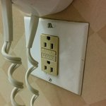power receptecal and faceplate unmatched and in bad condition