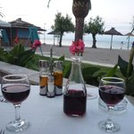 Dinner at Taverna along beach from hotel.