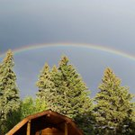 After the storm rolled through we were treated to a beautiful rainbow.
