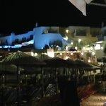 Petinos Beach Hotel from the beach