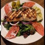 Salmon with Greek.
