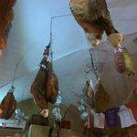 Meat Hanging in La Prosciutteria