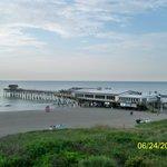 Pier at Cocoa Beach dawn .