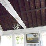 Cedar shank roof exposed to inside
