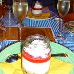 Cheesecake and Prosecco