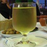 Glas huis wijn