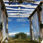 Arbor at lower grass wedding site