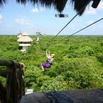 Zip lining at Xplor