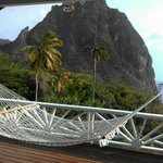 View of the Petite Piton from Flamboyant Deck
