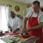 Chef Enrique always smiling when teaching his passion - cooking!